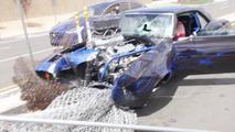Chevrolet Camaro drag car CC crash