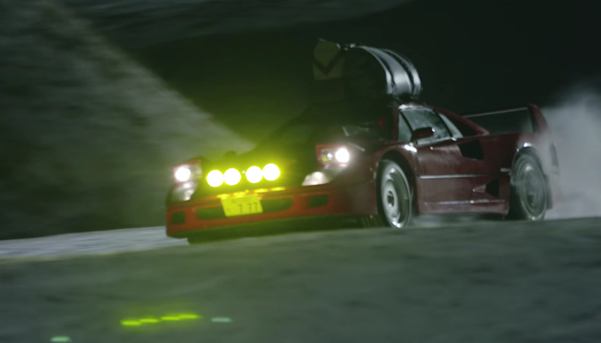 Watch Watch A Ferrari F40 Go Snow Driving For Red Bull Japan video