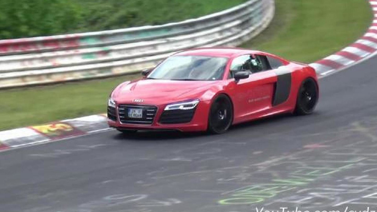 Audi R8 e-tron on the Ring