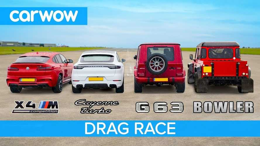 BMW X4 M Drag Races Cayenne Turbo, AMG G63, Bowler Bulldog