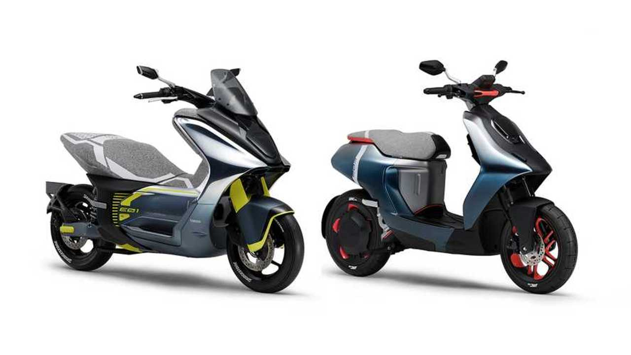 Yamaha E01 And E02 Electric Scooters