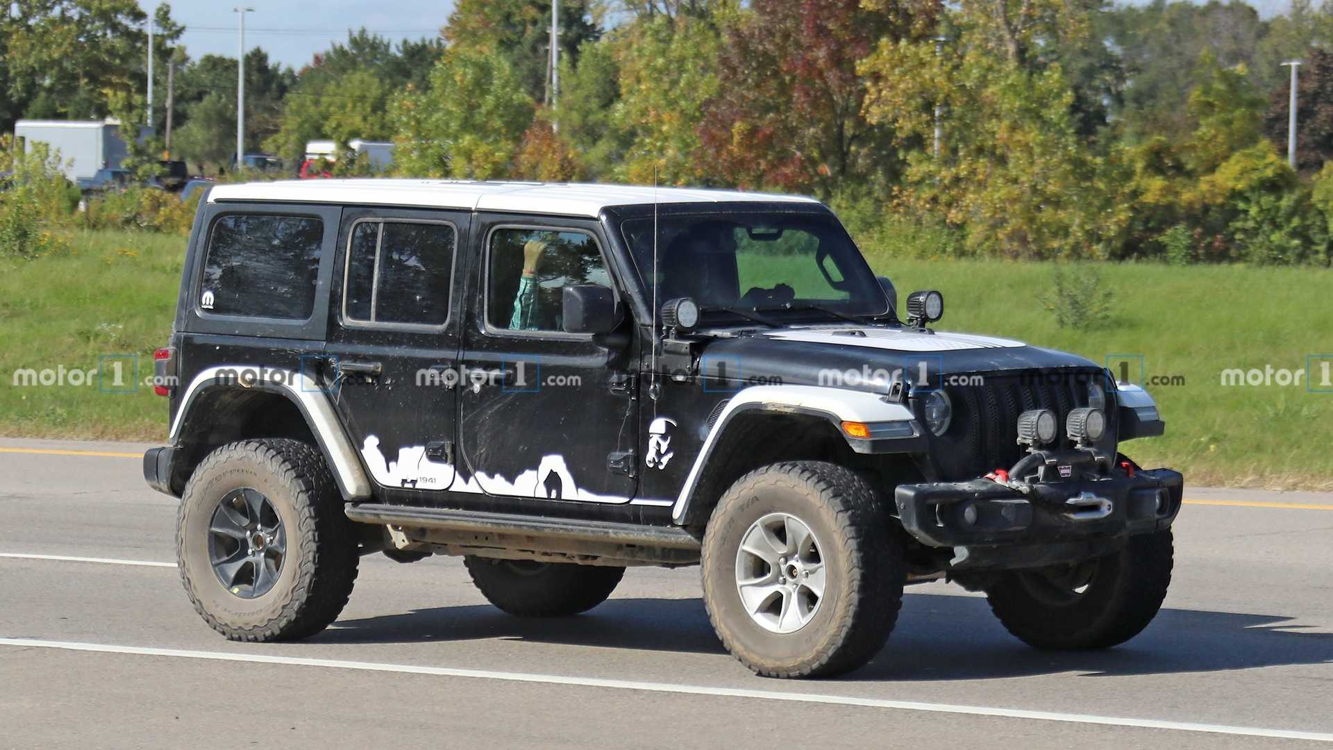 Jeep Wrangler Stormtrooper Spied Doing Nothing Wrong For The Empire
