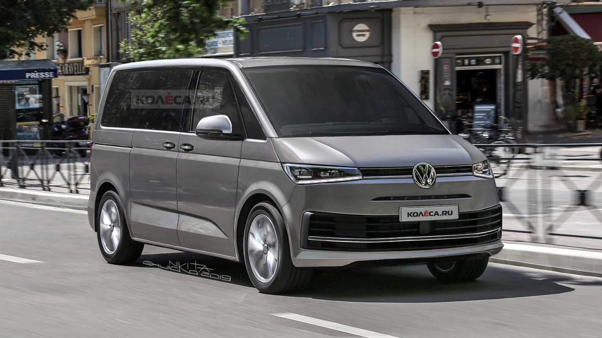VW T7 Rendering Imagines The People Mover Based On New Spy Shots