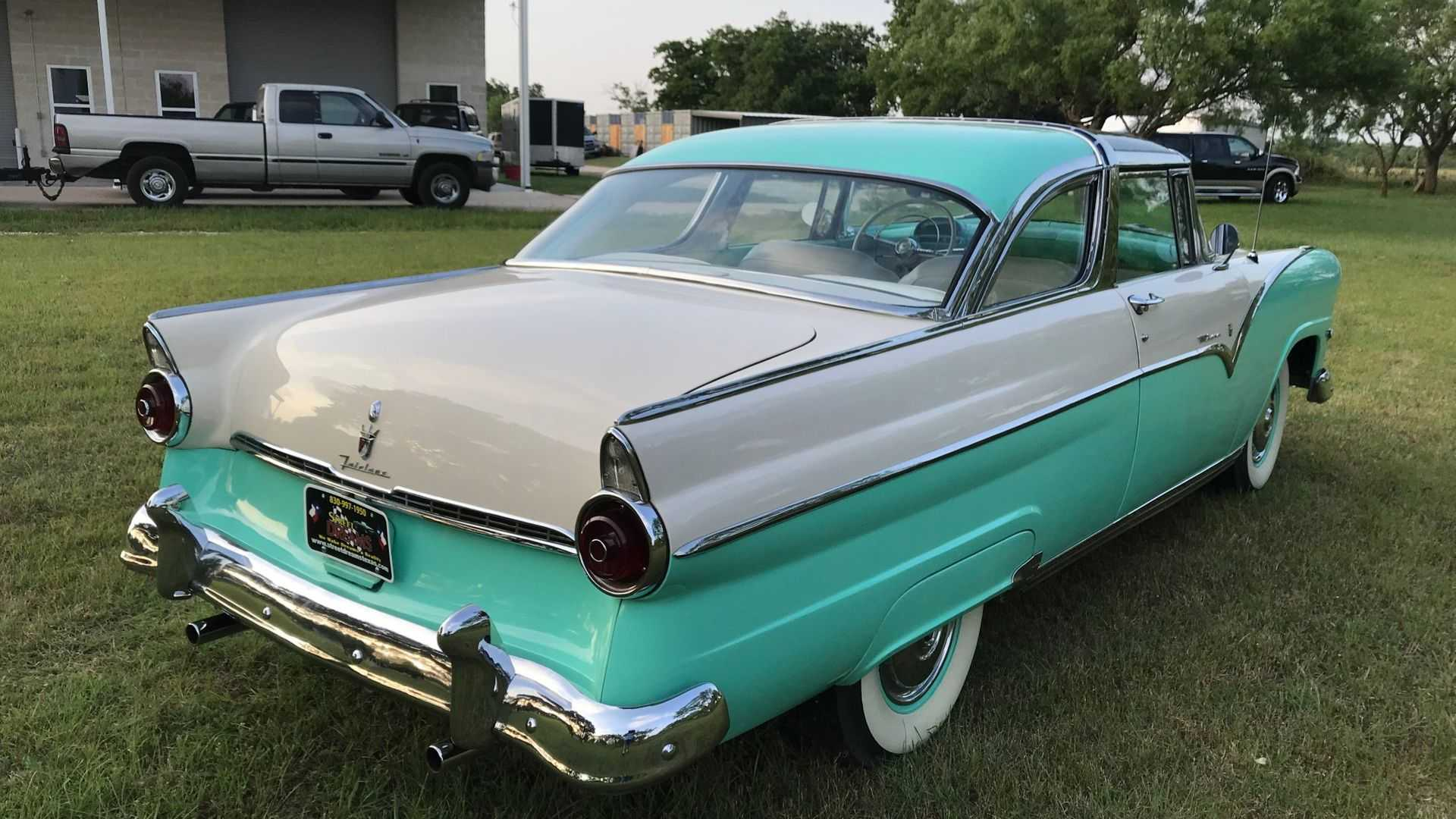 "[""See It All In A 1955 Ford Fairlane Crown Victoria Skyliner Glass Roof""]"