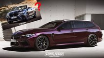 bmw m8 touring x6 cabrio rendering