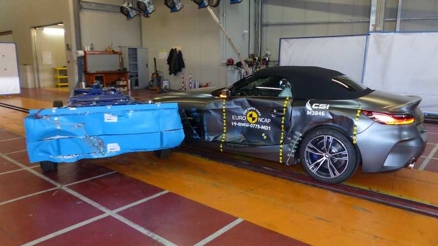 Crash test Euro NCAP, 5 stelle anche per spider ed elettrica