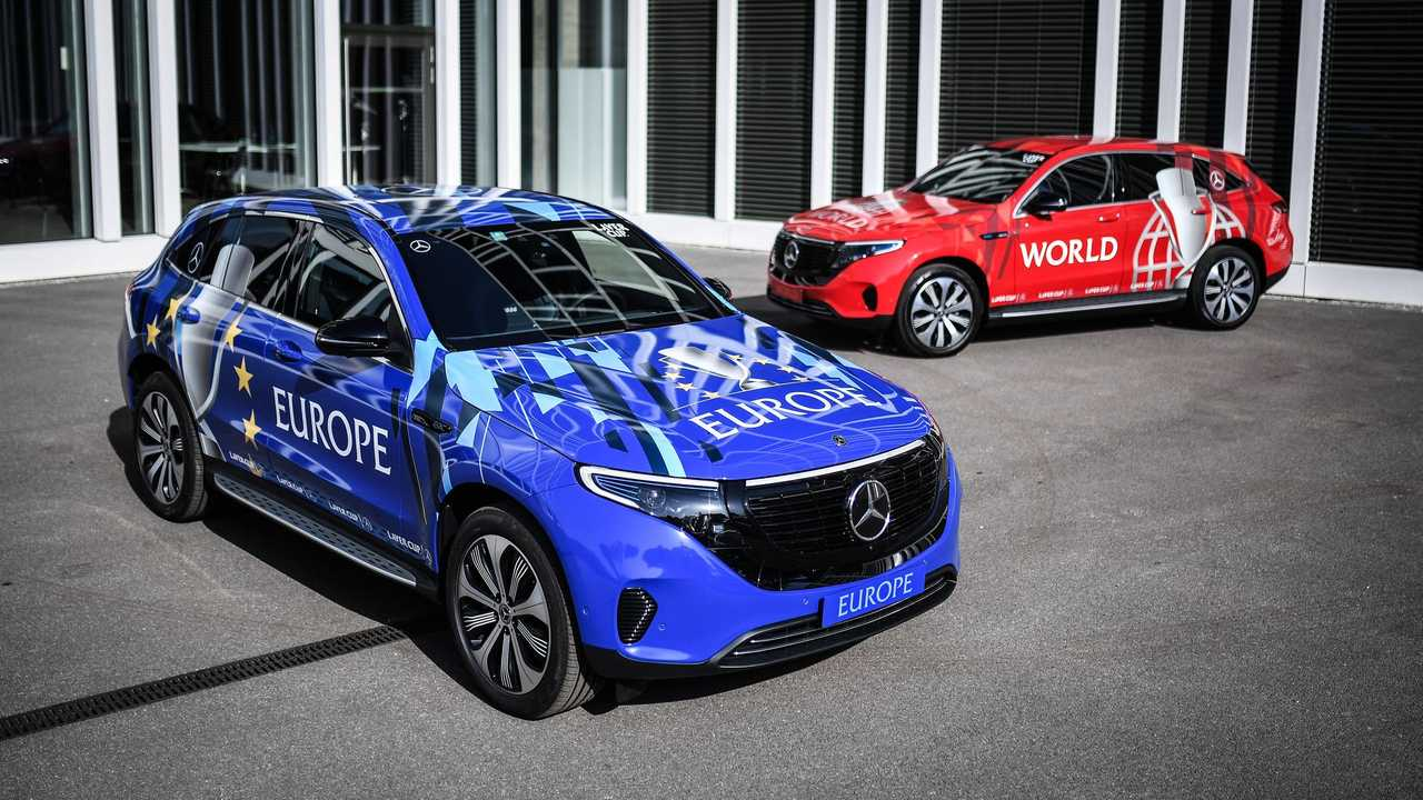 Mercedes-Benz EQC fleet for the Laver Cup tennis tournament