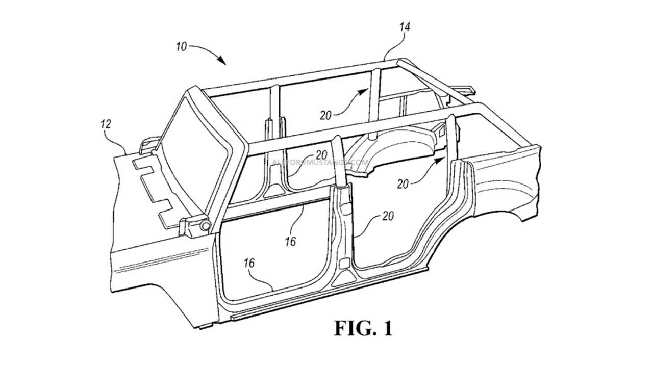 Ford Bronco Removable Roll Cage Patent