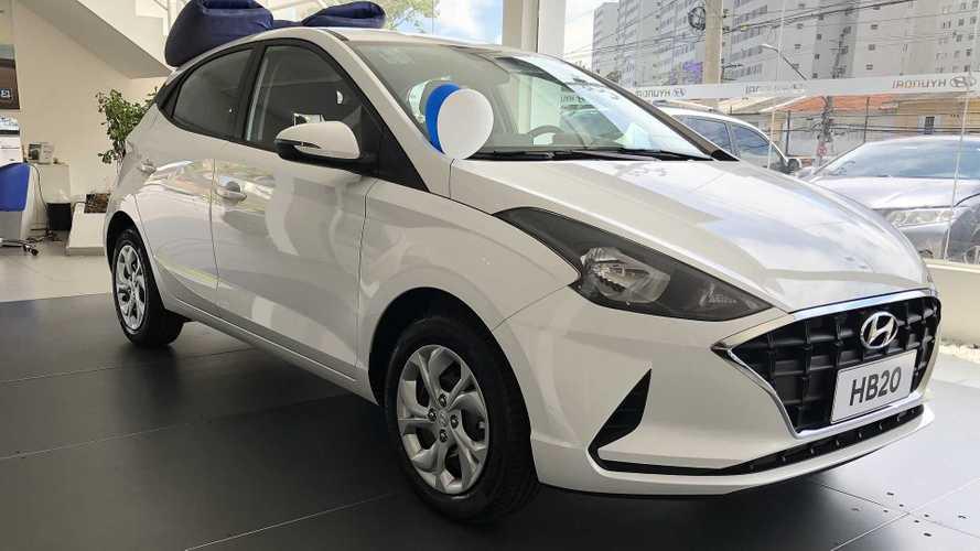 Resultado de imagem para Novo Hyundai HB20: veja fotos das versões de entrada nas lojas