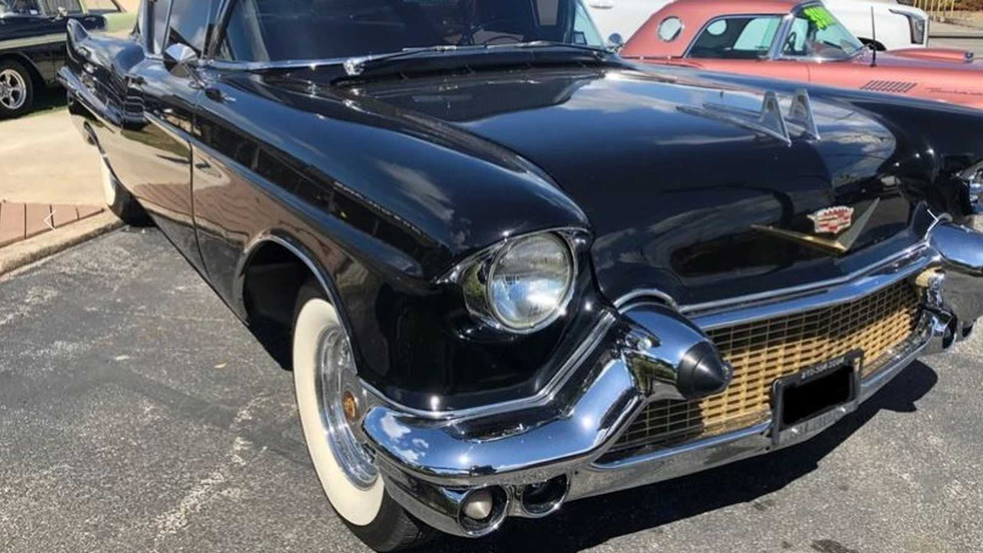 """[""""Wow The Crowd In This Sleek 1957 Caddy Model 62 Restomod""""]"""