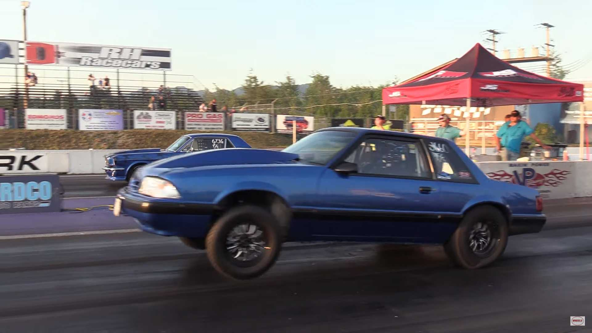 Watch Father And Son Duel In Mustang Family Drag Race