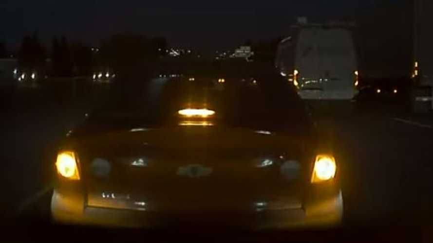 Watch This Chevy Purposely Brake Check A Tesla Then Speed Away