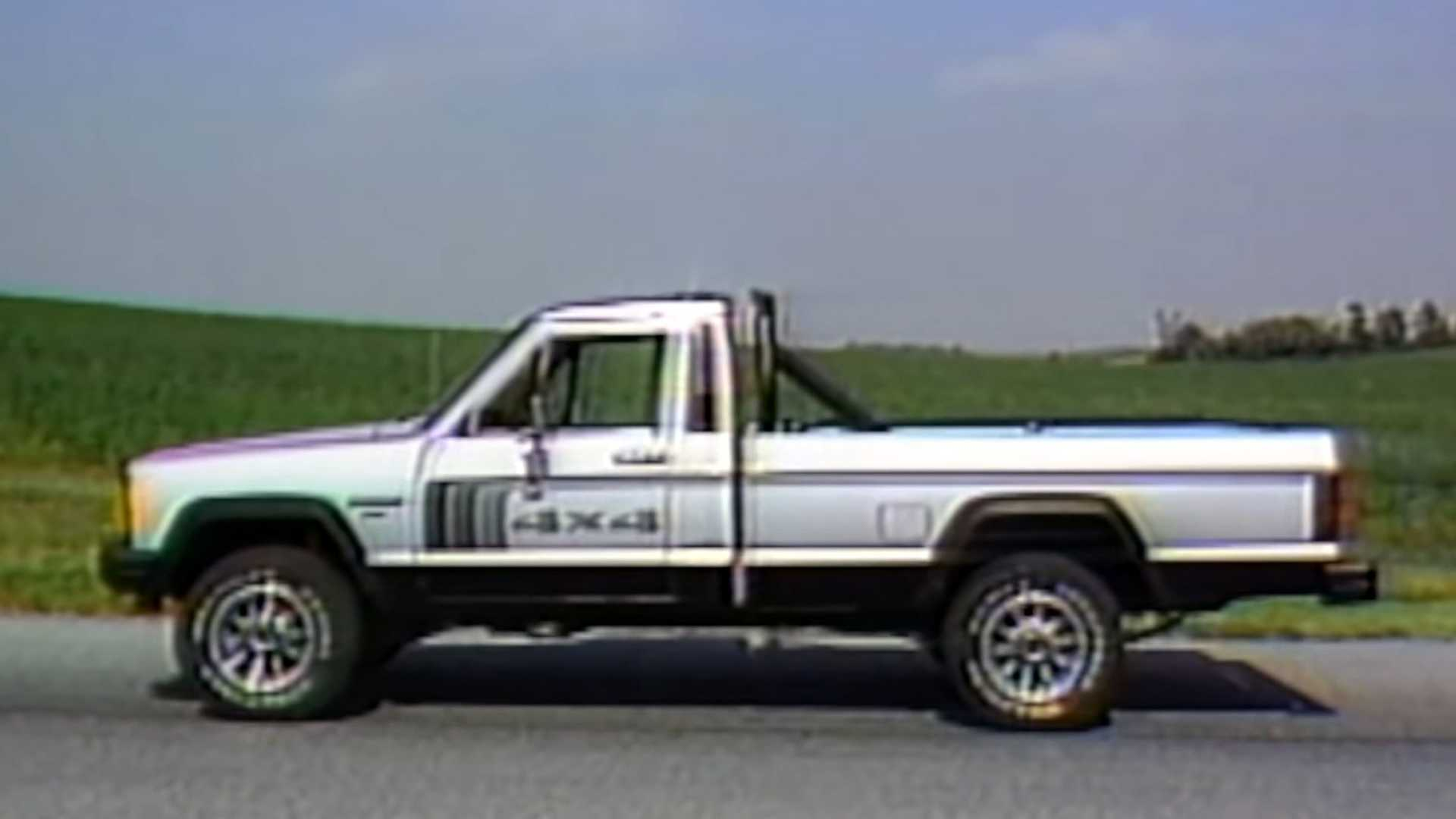 "[""Watch This Retro Review Of The 1986 Jeep Comanche""]"