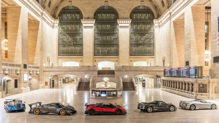 Pagani toma por asalto la estación Grand Central de Nueva York