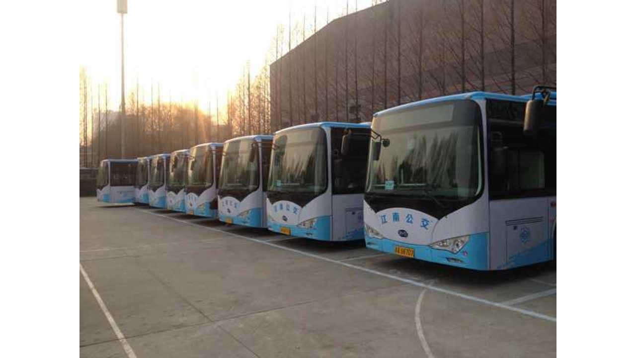 BYD Receives Order For Over 600 Electric Buses and 400 Electric Taxis From Nanjing, China