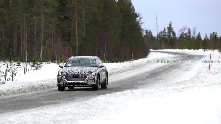 Audi e-tron Sportback, kış testinde casus kameralara yansıdı