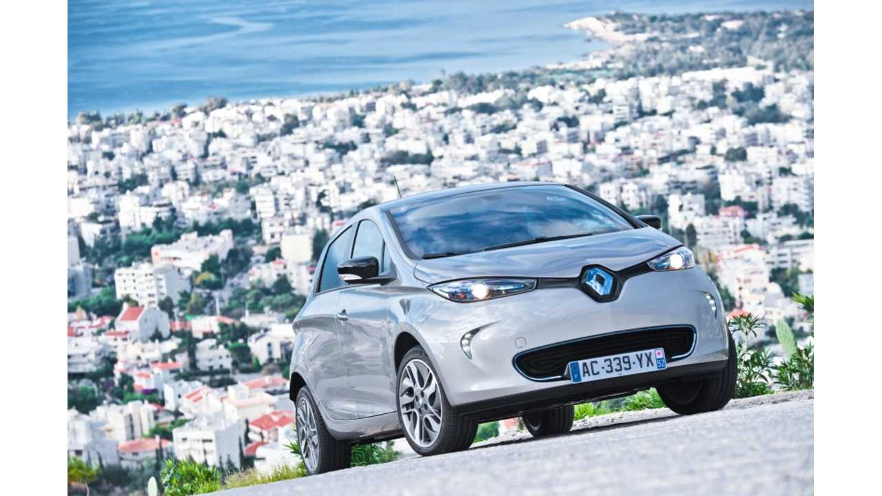 Renault Zoe Shoots to Top of EV Sales Chart in France; Kangoo Z.E. Dominates its Segment