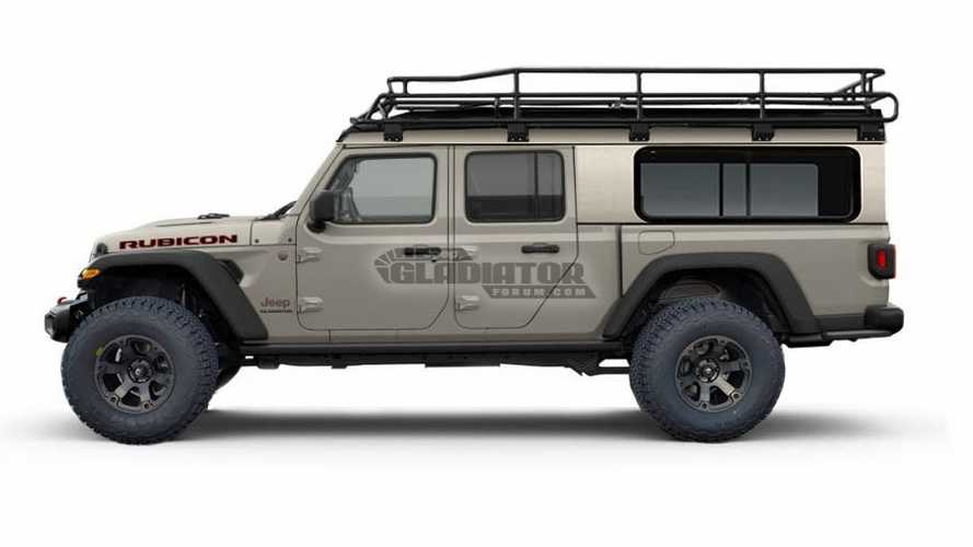2020 Jeep Gladiator Rendered With Bed Topper Motor1 Com
