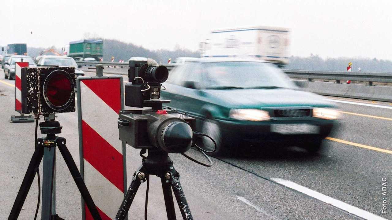 Radarkontrolle Autobahn