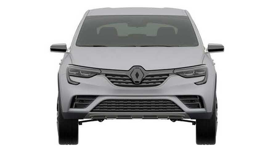Патентные изображения Renault Arkana для России