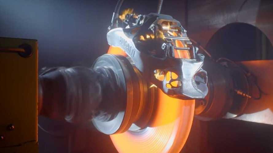 VIDÉO - Bugatti montre l'efficacité de l'étrier de frein imprimé en 3D