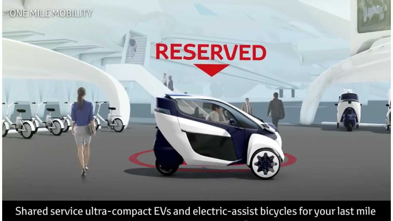 The Toyota I-Road Figures In Toyota's Smart Mobility Society