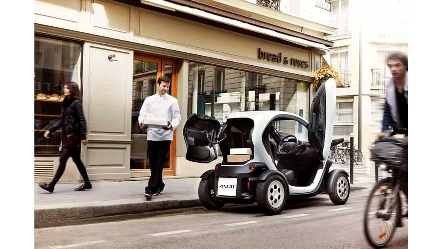 Renault Unveils Twizy Cargo Electric Delivery Vehicle