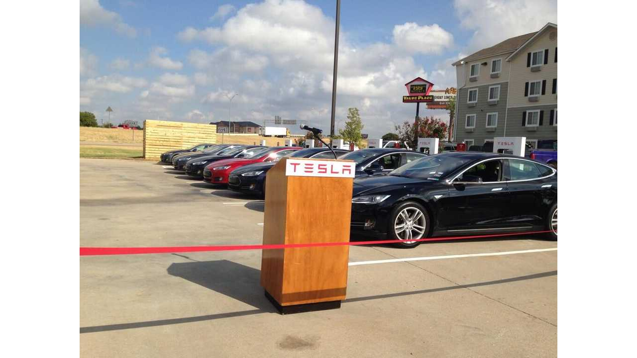 Tesla Motors Opens 26th Supercharger Station as Site in Waco, Texas Comes Online