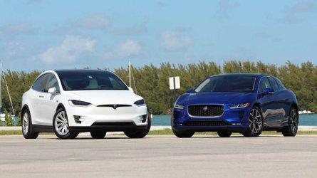 2019 Jaguar I-Pace Vs. 2018 Tesla Model X Comparison: Cat Nipped