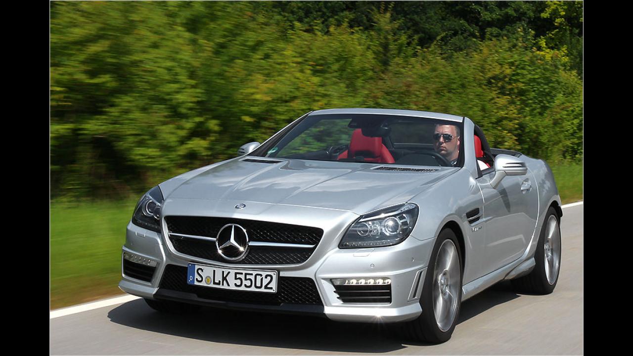 Platz 7: 421 PS im Mercedes SLK 55 AMG
