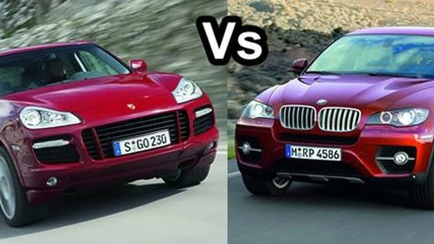 BMW X6 xDrive50i Vs Porsche Cayenne GTS at Nurburgring