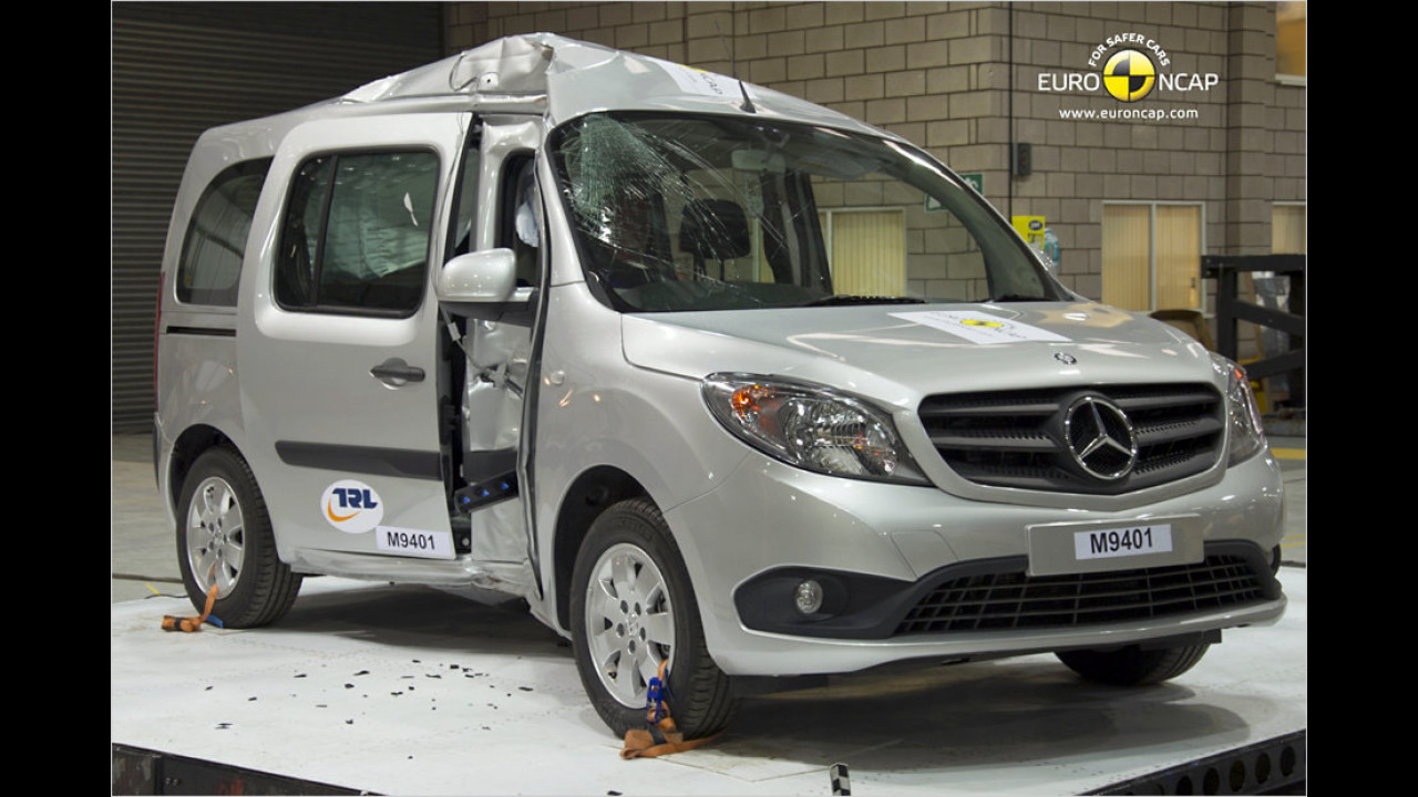 Flop: Mercedes-Citan-Crashtest