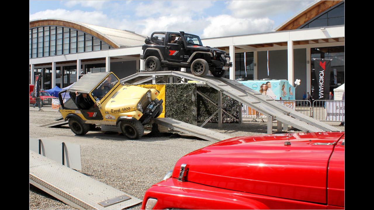Jeep-Fahren im Außengelände