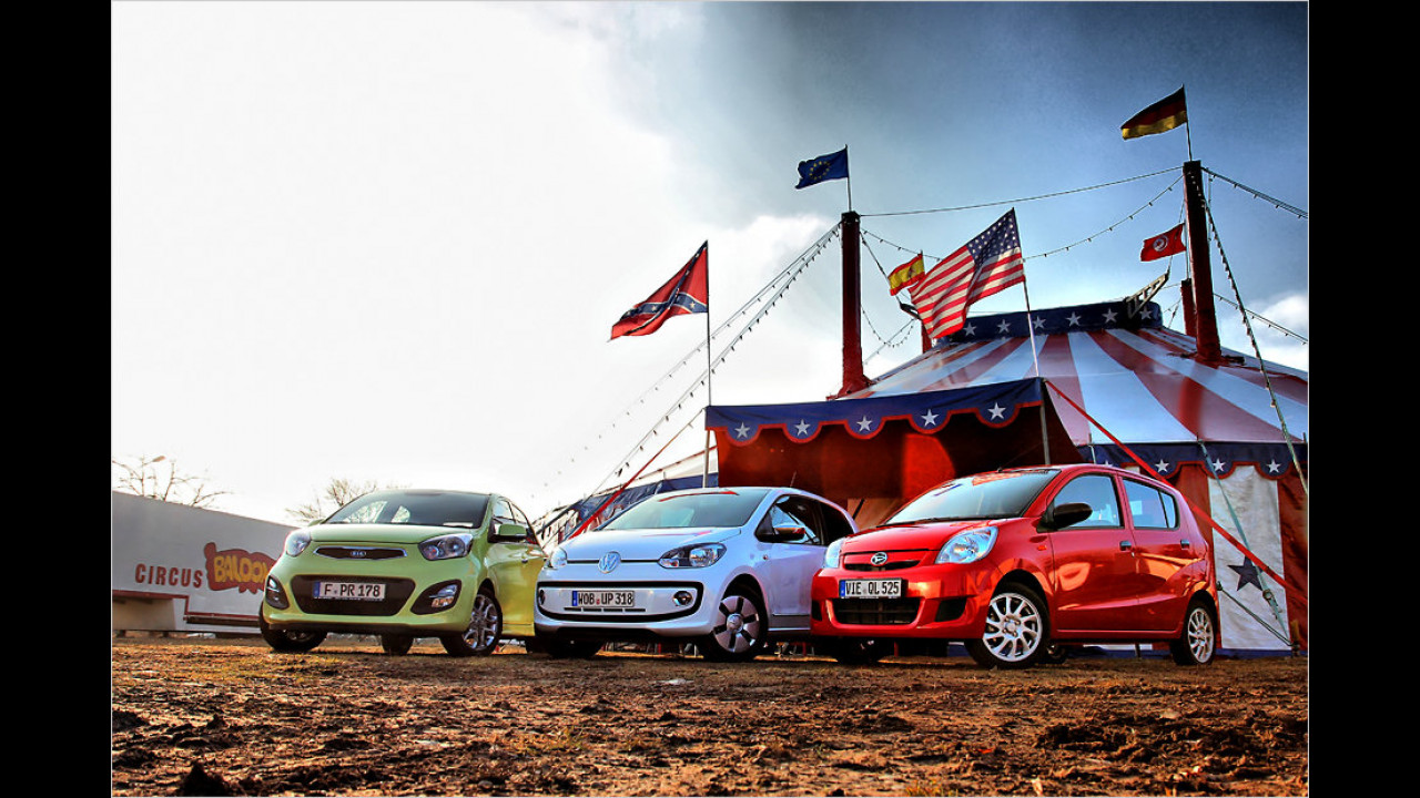 Kia Picanto, VW Up, Daihatsu Cuore