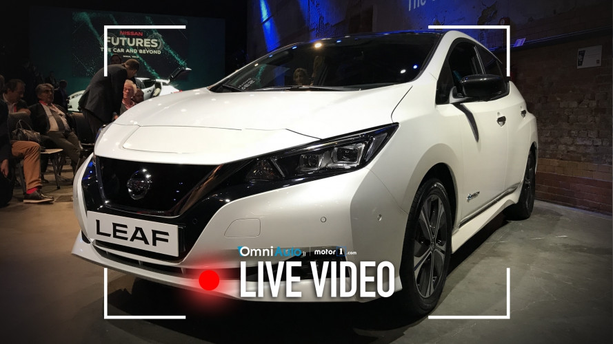 Nuova Nissan Leaf, ecco com'è vista dal vivo
