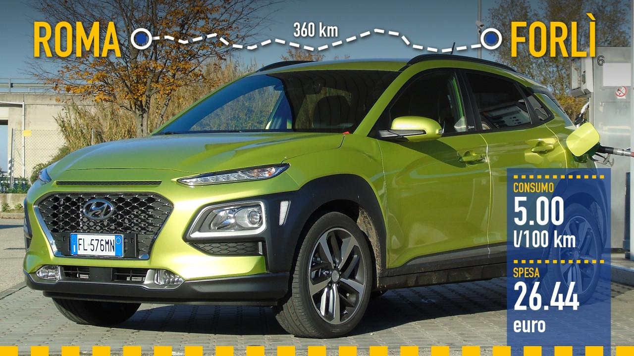 [Copertina] - Hyundai Kona 1.0, la prova dei consumi reali
