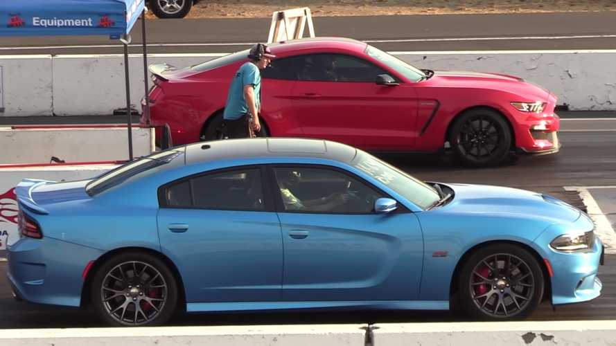 Place Your Bets: Dodge Charger SRT 392 Drag Races Shelby GT350