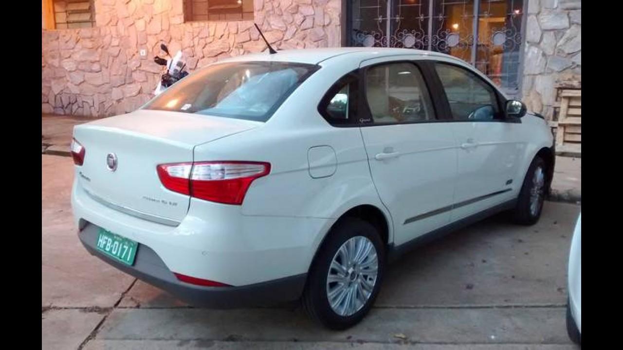 Flagra: Fiat prepara reestilização leve para o Grand Siena