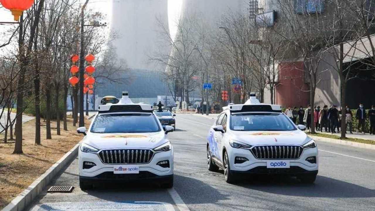 Taxis autónomos chinos en Pekín