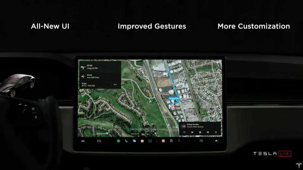 Tesla Model S Plaid infotainment