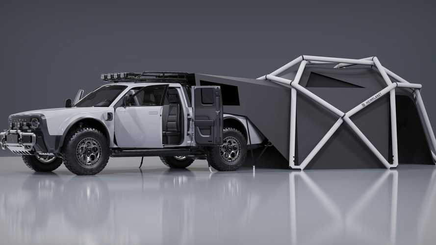 Alpha Motors Unveils Sweet Camping Set Up For Its Wolf+ EV Pickup