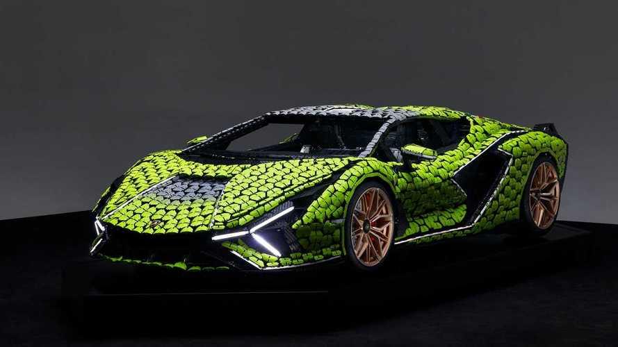 Представлен полноразмерный Lamborghini Sian из деталей Lego