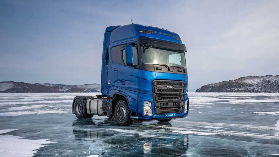 Ford Trucks F-Max speed record on Bailkal Lake