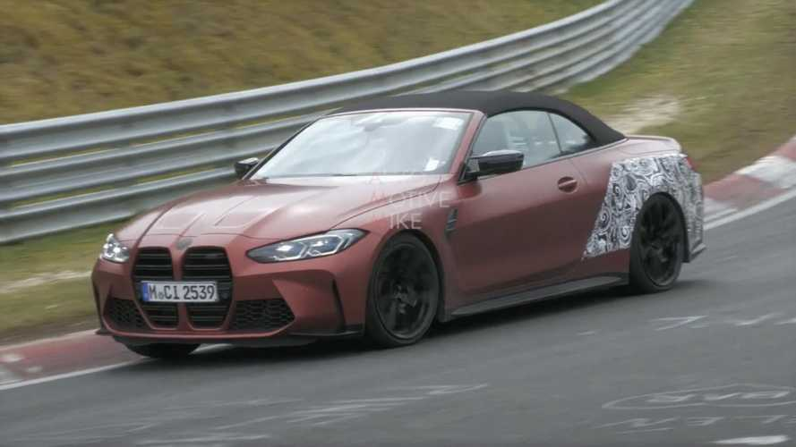 2022 BMW M4 Convertible caught lapping the Nurburgrin in spy video