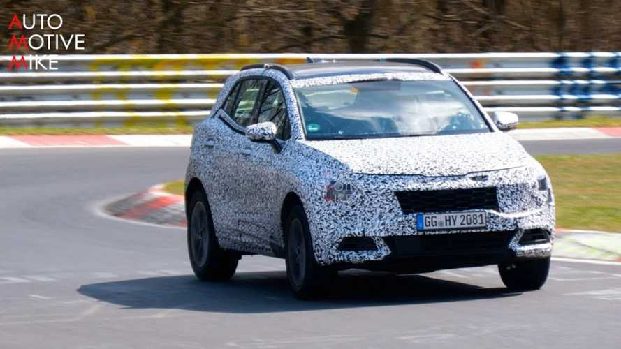 Next-gen Kia Sportage spied squealing around the Nurburgring