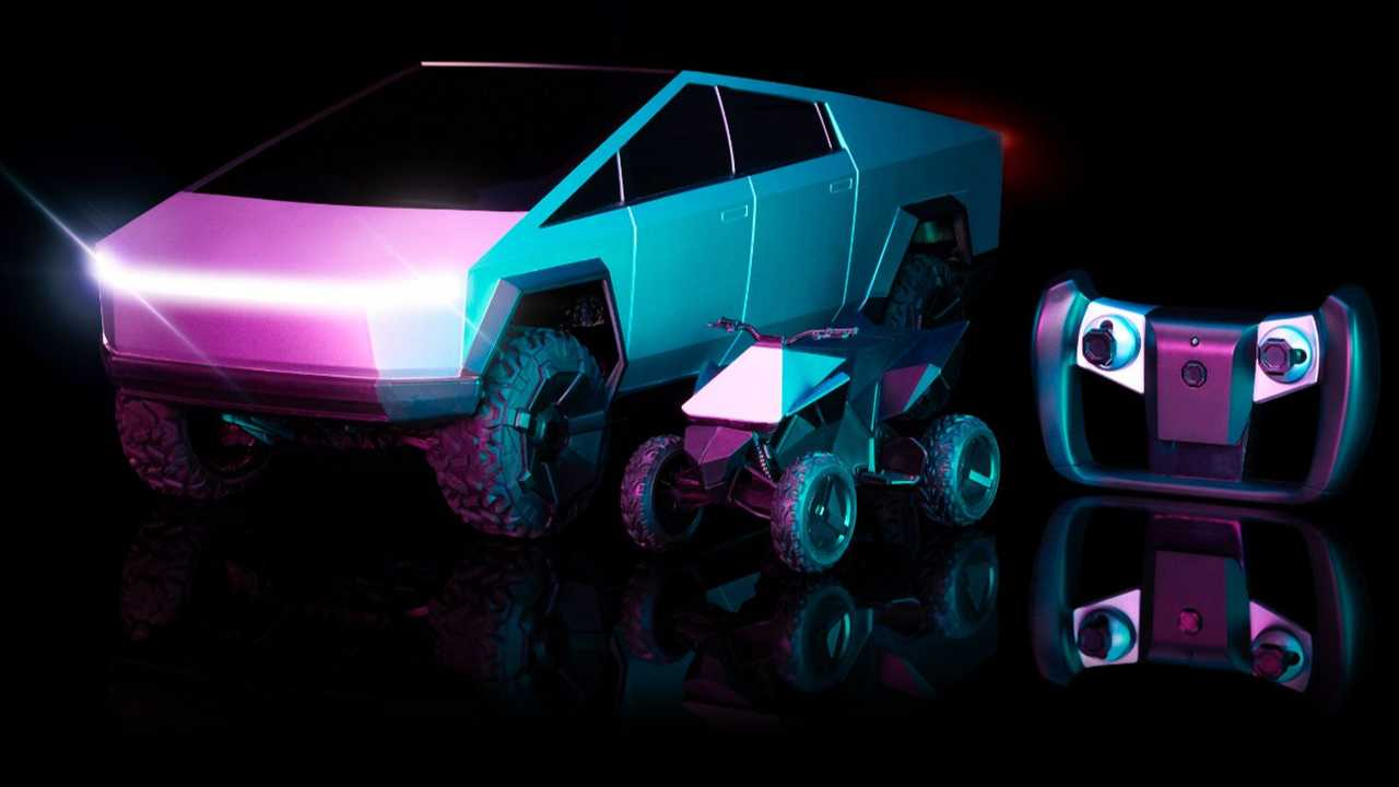 The new 1:10 scale radio controlled Tesla Cybertruck from Hot Wheels comes with a Cyberquad and costs $100.