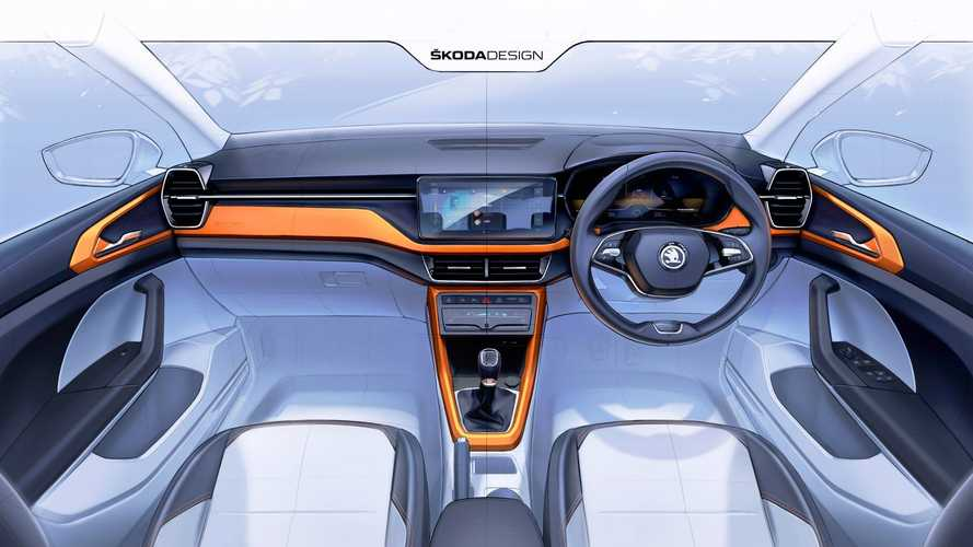 2021 Skoda Kushaq Interior Previewed In Design Sketches