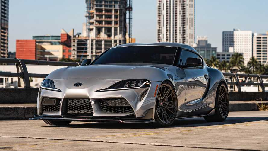 Toyota Supra On Bronze Vossen Wheels