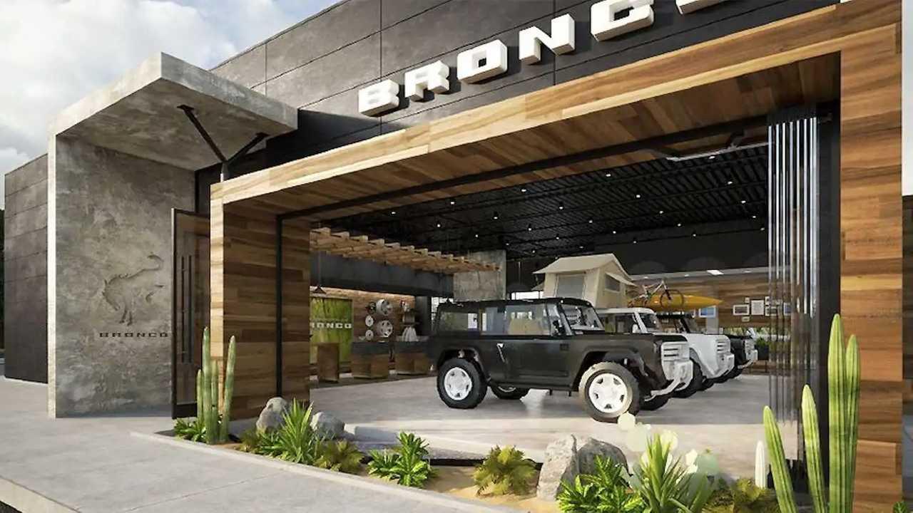 Dedicated Bronco Showrooms Rendering