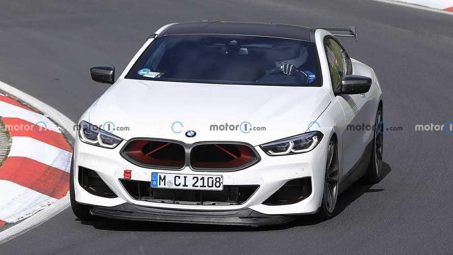 BMW M8 CSL, le foto spia